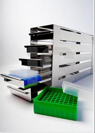 REAL.- Racks de bandejas extraíbles para microplacas